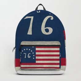 1776 Bennington flag - Vintage Stone Textured Backpack