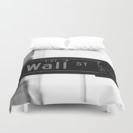 Wall St. Minimal - NYC Duvet Cover