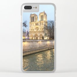 Notre Dame Cathedral Clear iPhone Case