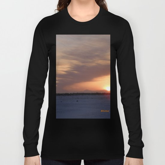 Mt. Redoubt Ashflow at Sunset #1 Long Sleeve T-shirt