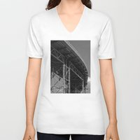 bridge V-neck T-shirts featuring Bridge by Christophe Chiozzi