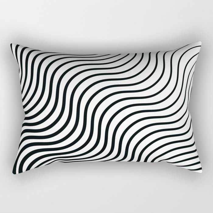 Whisker Pattern - Black #399 Rectangular Pillow