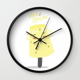 Rum and Raisins Wall Clock