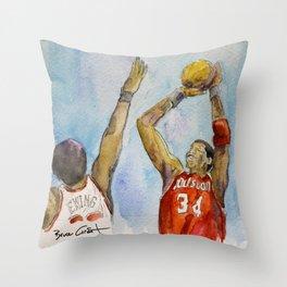Hakeem Olajuwon - Retired Pro Basketball Player Throw Pillow