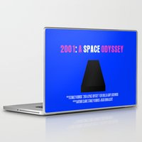 2001 a space odyssey Laptop & iPad Skins featuring 2001: A Space Odyssey Movie Poster by FunnyFaceArt