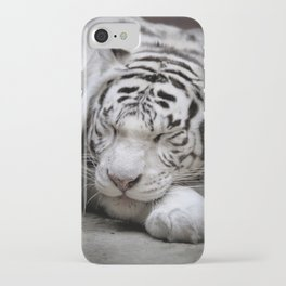 White tigress iPhone Case