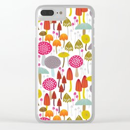 Toadstools and mushro Clear iPhone Case