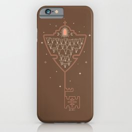 Key to Tejas - camel & peach iPhone Case