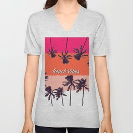 Beach vibes 4 Unisex V-Neck