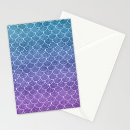 Mermaid Scales in Cotton Candy Stationery Cards