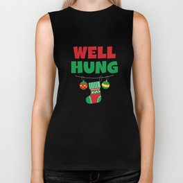 Funny Christmas Stocking Pun Xmas Apparel Biker Tank
