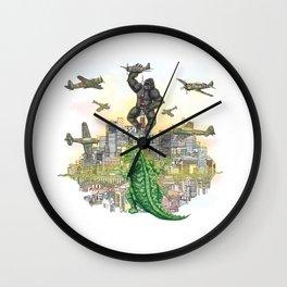 Godzilla vs King Kong  in tokyo ? Wall Clock