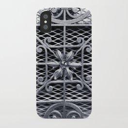 Metal Flower Arrangement - Architecture (BnW) iPhone Case