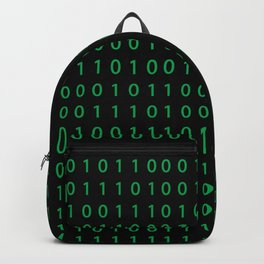 Pattern with binary code on dark background Backpack