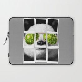 cool panda photo Laptop Sleeve