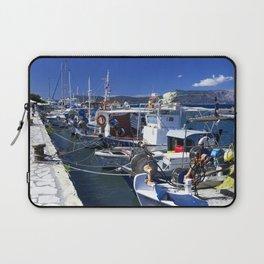 Fishing boats of Corfu Town Laptop Sleeve