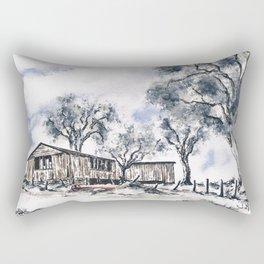 Rustic Bush Shack Rectangular Pillow
