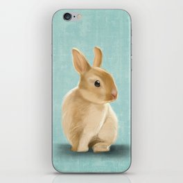 Portrait of a little bunny iPhone Skin