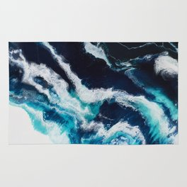 Crashing Abstract Painting Rug