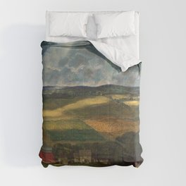 Classical Masterpiece 'Wisconsin Landscape II' by John Steuart Curry Comforters