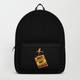 Track & Field - Hurdling - Sport - Just Get Over It Backpack
