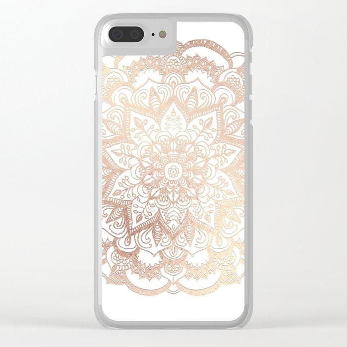 Mandala Gold Shine II Clear iPhone Case