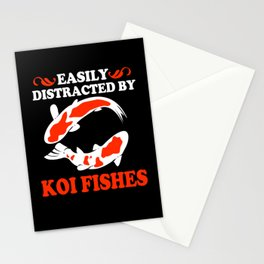 Koi Fish Easily Distracted Nishikigoi Japanese Koi Stationery Cards