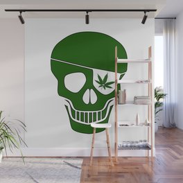 Canabis Patch Skull Wall Mural
