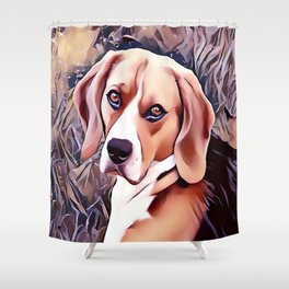 The Beagle Shower Curtain