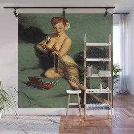 Fascination Gil Elvgren Pin Up Girl Wall Mural