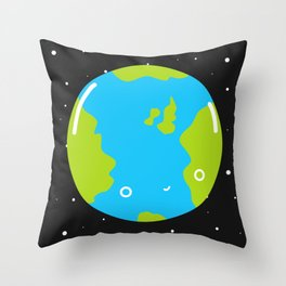 The Earth Throw Pillow