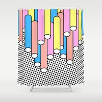 return Shower Curtains featuring Return of the Past by Tyler Spangler