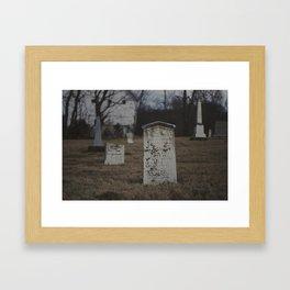 Little Cemetery on the Hill 2 Framed Art Print