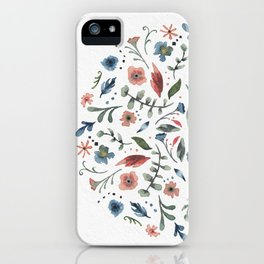 Flower circle iPhone Case