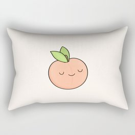 Happy Peach Rectangular Pillow