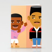 fresh prince Stationery Cards featuring The Fresh Prince by Evan Gaskin