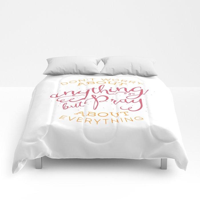 PRAYER OVER WORRY Comforters