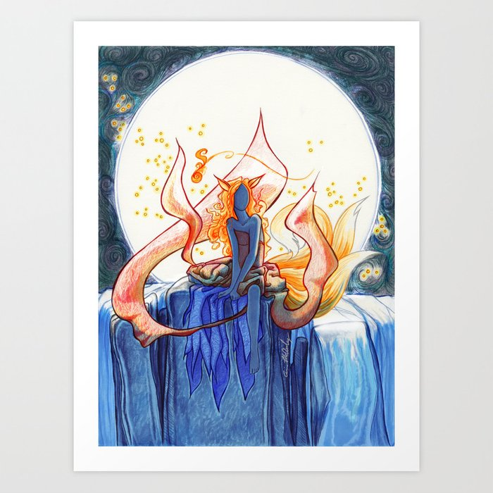 The Fox of Many Tales Art Print