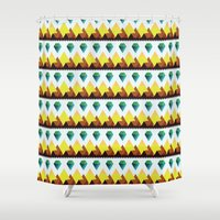 lucy Shower Curtains featuring Lucy by Priscila Kurata