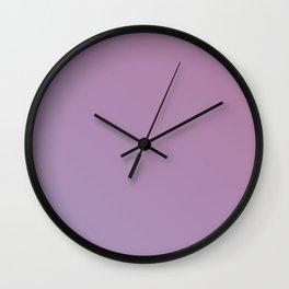 Soft Pink Purple Gradient Wall Clock