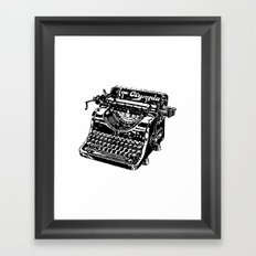 Old Typewriter Framed Art Print
