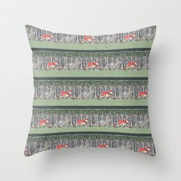 Red Riding Hound Throw Pillow