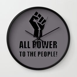 Power to the People Wall Clock