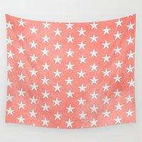 starfish Wall Tapestries featuring Starfish { Peach } by alterEGO