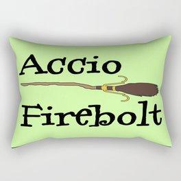 Accio Firebolt! - green Rectangular Pillow