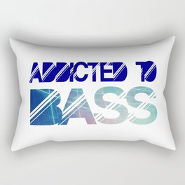 Addicted to bass Rectangular Pillow