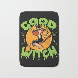 HALLOWEEN Good Witch Broomstick Girl Gift Bath Mat