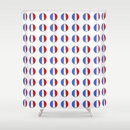 Flag of France 15- France, Français,française, French,romantic,love,gastronomy Shower Curtain