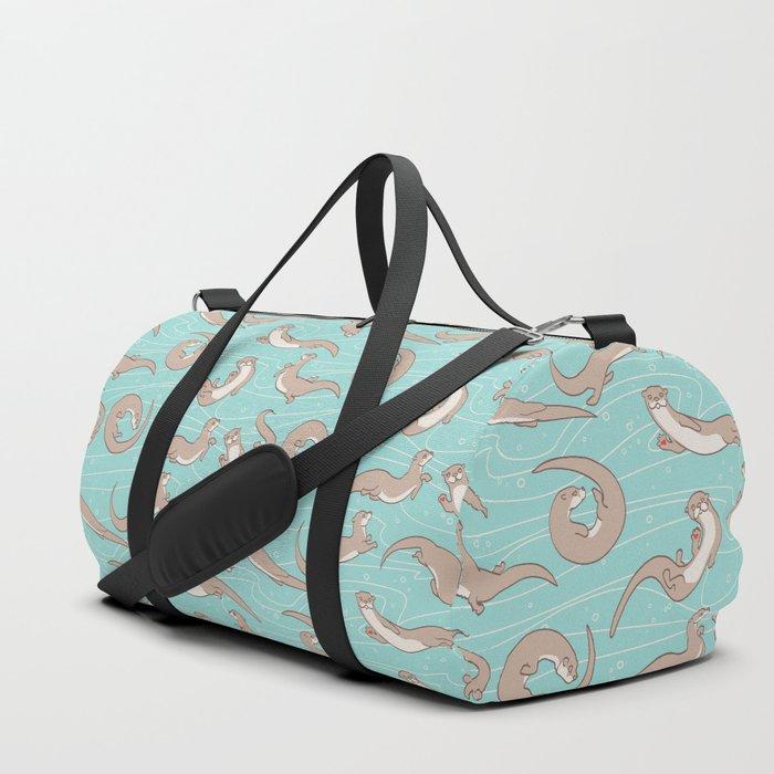 Swimming Otters Duffle Bag