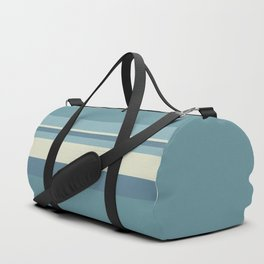 Horizontal Stripes - Muted Blue Duffle Bag